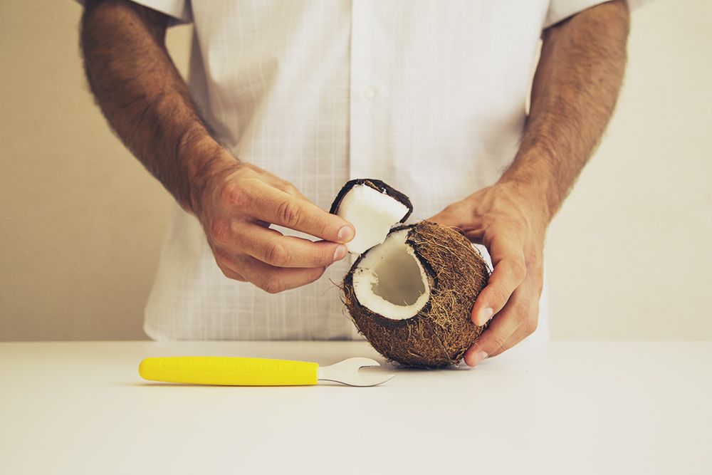 Cocco aperto con Cococrack